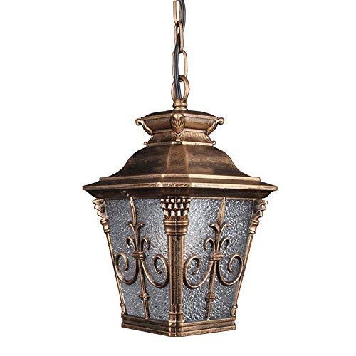 Wapipey Europe Vintage En Verre En Métal Suspension extérieure En Aluminium Rouille Étanche Extérieur Cour Cour Jardin Villa E27 Plafond Suspension Luminaire