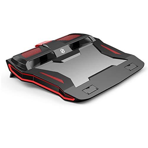GREEN&RARE Refrigerador de computadora portátil para juegos, soporte ajustable para portátil de 3000 RPM potente almohadilla de enfriamiento de flujo de aire para portátil de 12 a 17 pulgadas