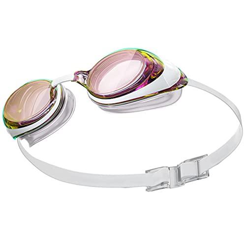 Mujer Alta Definición Anti-Niebla Marco Grande Marco Gafas Adulto El Nuevo Recubrimiento Anti-Ultravioleta Gafas De Natación Blanca, Impermeable Y Anti-Niebla