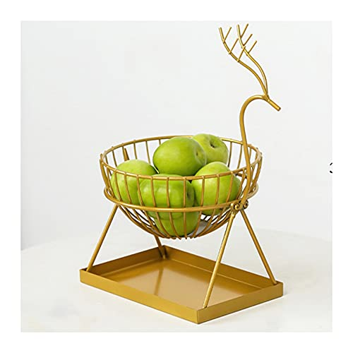 CHUANGRUN Cesta De Frutas De Alambre, Frutero para Encimera De Cocina, Cuencos Decorativos, para Centros De Mesa, Cuenco De Verduras De Cocina para Almacenamiento De Frutas, Verduras Y Pan