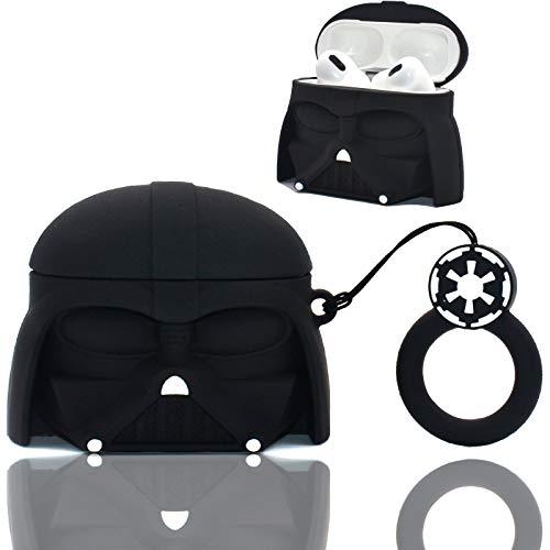 Darth Vader - Custodia per Airpod Pro, in silicone, 3 cover per Airpods in silicone, motivo: cartoni animati, alla moda, per Airpods Pro
