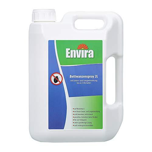 Envira Bettwanzen-Spray - Anti-Bettwanzen-Mittel Mit Langzeitwirkung - Geruchlos & Auf Wasserbasis - 2 Liter