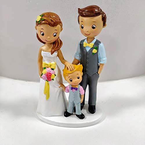 Dekora Floreal Décoration de gâteau en résine pour Couple de Mariage avec bébé Multicolore Taille Unique
