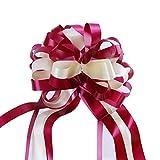 Frmarche 10pcs flor decorativa bola arco cinta boda bowtie coche cinta de raso boda decoración silla, regalo, etc.