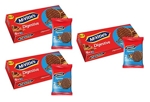 McVities Digestive Milk Chocolate 6x2er, 3er Pack, (3x199,8g)