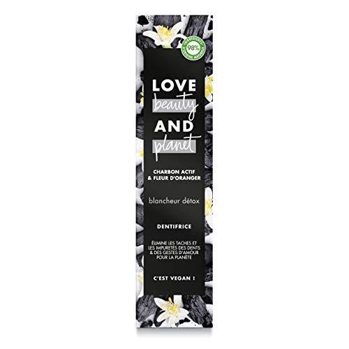 Love Beauty & Planet Zuriketa Hortzetako pasta Vegan Desintoxikazioa, Karbono Aktibatua eta Laranjaren Lorea, Formula biodegradagarria Ziurtatutako Vegan 75ml
