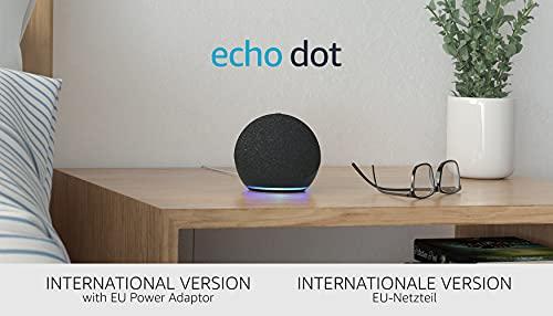 Der neue Echo Dot (4. Generation), Internationale Version | Smarter Lautsprecher mit Alexa | Anthrazit