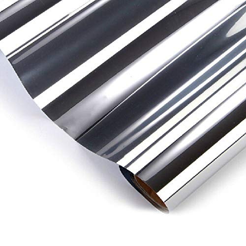 Emmala zilveren spiegelfolie voor ramen met 20% lichtdoorlatendheid privacy veiligheid unieke getinte folie 152 * 50 cm