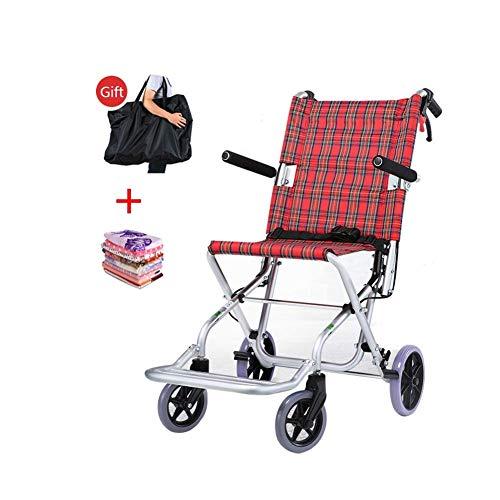 FTFTO Decoración Viva Silla de Ruedas Silla de Ruedas de aleación de Aluminio Plegable y Duradera Que se Puede Utilizar para Personas Mayores discapacitadas Mesa de Comedor pequeña