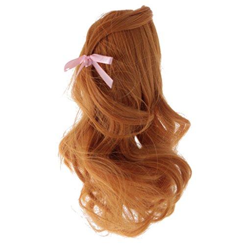 Hübsche Puppenperücke Perücke Gewelltes Haarteil für18 Zoll Puppen Puppenzubehör - Claybank