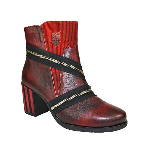 Maciejka Damen Leder Stiefelette Ankle Boots Stiefel Schuh Schuhgröße 38