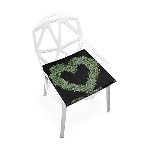 Silla Mat Office Thrush Lilly Of The Valley Png Graphics Flower Soft antideslizante Almohadillas de espuma de memoria Cojines Asiento para el hogar Cocina Escritorio de oficina Silla de 16x16 pulgada