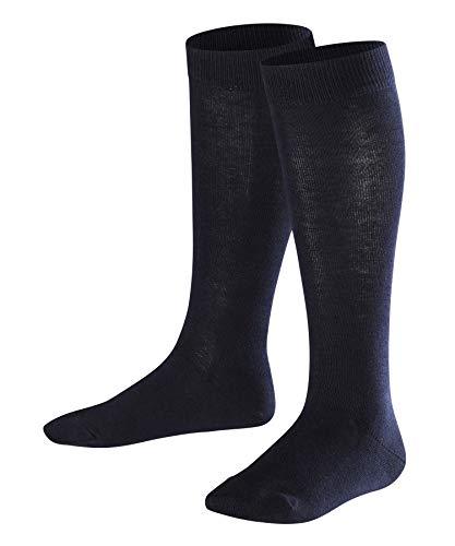FALKE Kinder Kniestrümpfe Family - 94% Baumwolle, 1 Paar, Blau (Dark Marine 6170), Größe: 31-34