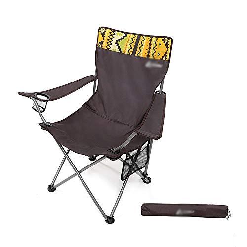 Campingstoel buiten, draagbare klapstoel, houder voor de rug, met tas, houder voor stalen buizen, draagkracht 120 kg, ontworpen voor camping, vakantie en toerisme
