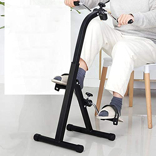 OKBOP Pedal Exerciser With Handle,Stair Steppers for Exercise Workout, Foldable Mini Exercise Bike Stationary for Seniors, Home Gym Fitness Training Machine (Black)