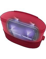 【國內正規品】HoMedics ポータブルバック型UV-C LED除菌器 USB充電式 / 1分で99.9%除菌 / 1度の充電で18回使用可能 / 本體268gと超軽量 レッド