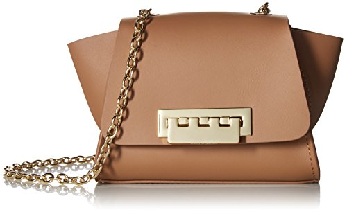 Fold-over flap with turnlock closure Interior design details: leather lining, interior pocket Removable shoulder strap drops 26in Product Dimensions: 5in H x 3in L x 6in W