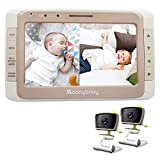 Best Dual Baby Monitors - Moonybaby Split 50 Baby Monitor with 2 Cameras Review