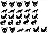 Fox Collection (Fox Vinyl Stickers Black)