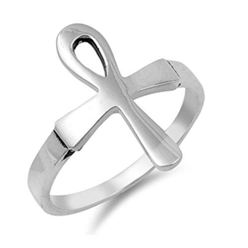 Sterlingsilber Ankh Ring