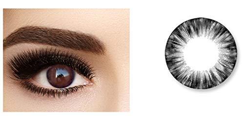Without brand 2Pcs / Pair Mrs.H Sunny Puppe Serie Farbe Kontaktlinsen-Material Comfort Keine Augen Dry Crystal Clear Lenses Partei Getönte Gläser, 0.00 Dioptrien (Farbe : Schwarz, Größe : 0)