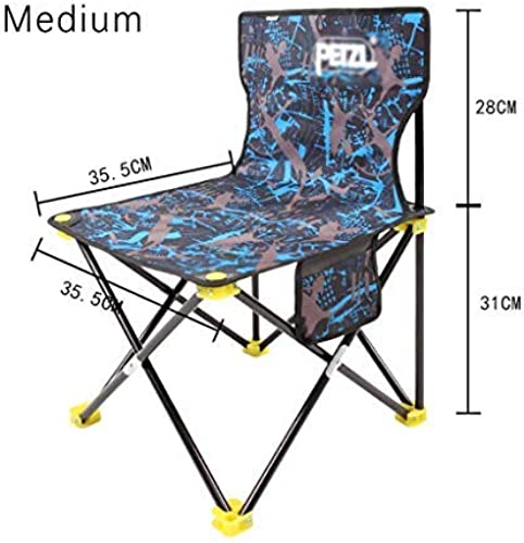 BAIF Chaise DE Camping Pliable, Chaise DE Plage EXTéRIEURE Chaise Pliante extérieure, Confortable Durable Durable Loisirs Pique-Nique Voyages Pêche