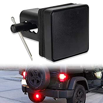 Hitch Lights 15 LEDs Black Lens 2ND Trailer LED Brake Tail Light Cover with Strobe Mode Fit 2  Receiver Truck SUV Pickup  Trailer Lights LY039-2