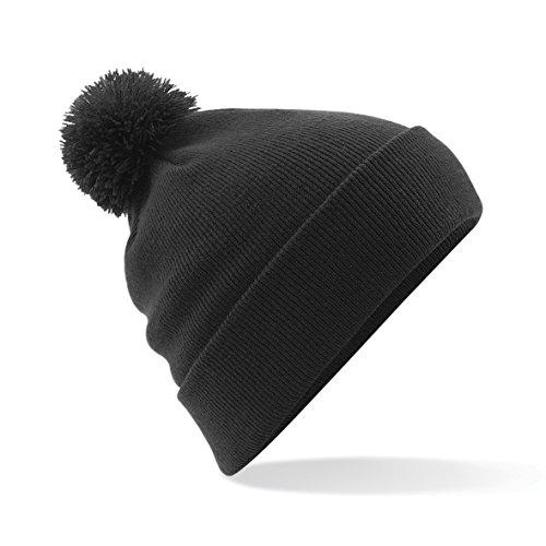 Beechfield - Bonnet avec pompon - Adulte unisexe (Taille unique) (Noir)