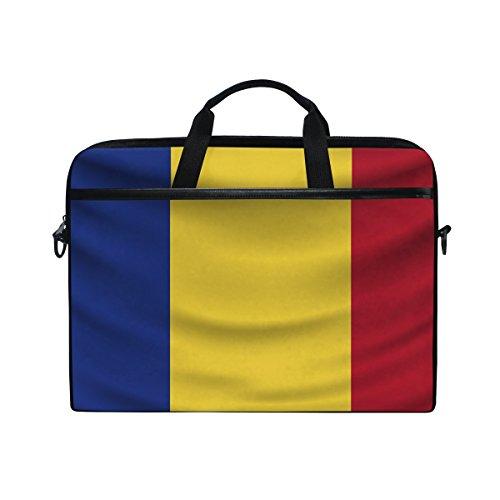 Laptop-Tasche mit Griff, 35,6 cm (14 Zoll), Motiv Romania Flagge
