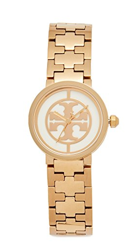 Tory Burch Women's The Small Reva Watch, Gold/Ivory, One Size