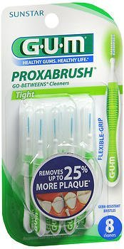 GUM Go-Betweens Proxabrush Cleaners Tight - 8 ct, Pack of 3