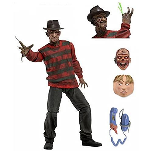 qinhuang Pesadilla En ELM Street Ultimate Freddy Krueger NECA Figura De Acción,  Caja De Juego De Modelo De Mano De Asesino Freddy