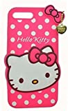 Indiacase 3D Cute Rubber Hello Kitty Back Case Cover Compatible for Apple i-Phone