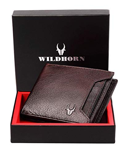 WildHorn RFID Protected Bombay Brown Genuine High Quality Men's Leather Wallet