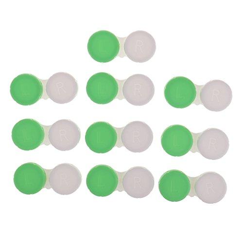 CUTICATE Contactlensdoosje Contactlensdoosje 10 Stuks Lensdoosje Lensdoosje – Groen, niet transparant