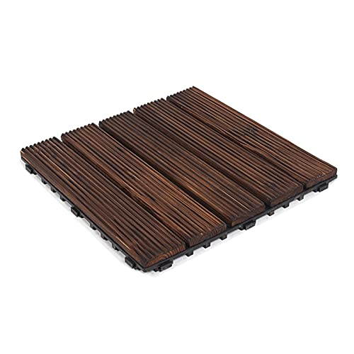 Baldosas de madera dura para terrazas, baldosas para terrazas, terrazas de madera entrelazadas, baldosas para bañeras de hidromasaje, pisos, alfombras de madera antideslizantes, para patio, jardín