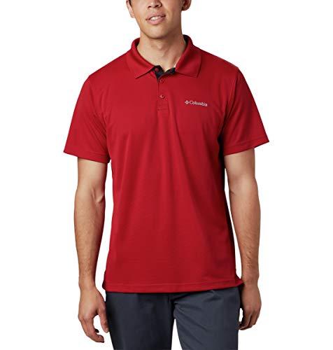 Columbia Herren Utilizer Polo Poloshirt, Samt Rot/Schwarz, X-Groß