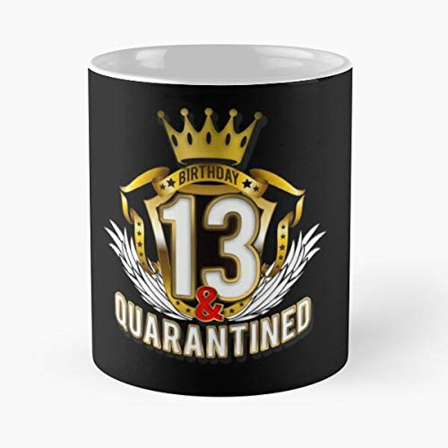 Birthday 13 Years Quarantined T-shirt - Quarantine And Chill Tee Bday Gift Boy Girls Slim Fit Shirt Social Distancing Graphic Design Classic Mug 1 Ounces Funny Coffee Gag Gift. Gumacshirt