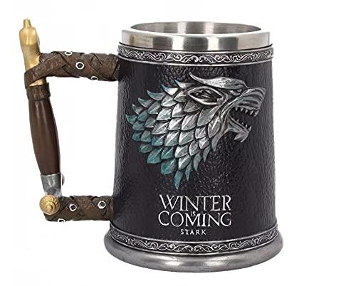 Game of Thrones Winter is Coming Tankard - Jarra de cerveza unisex, multicolor, Fan-Merch, series de TV