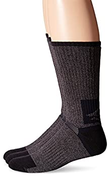 Sperry Men s High-Cushioned 3 Pack Crew Socks Charcoal/Black Shoe Size  6-12