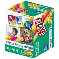 (まとめ) 富士フィルム FUJI 画彩 写真仕上げValue 光沢 L判 WPL300VA 1箱(300枚) 【×2セット】