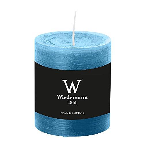 8 Stück durchgefärbte Stumpenkerzen (H x Ø) 80 x 68 mm, Farbe Azurblau, mit ASF zum Abbrandschutz, Wiedemann Marble Kerzen, Advent, Adventskranz, Weihnachten, Dekoration, Event