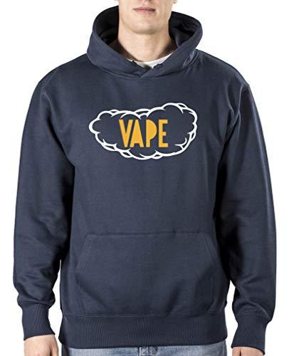 Comedy Shirts Vape Wolke Sweat-shirt à capuche pour homme - Bleu - XL