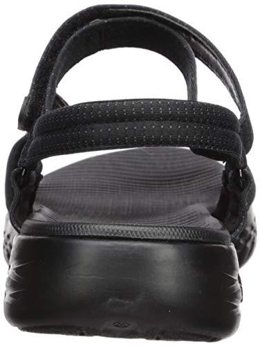 Skechers womens On-the-go 600 - Brilliancy Sport Sandal, Black, 9 US