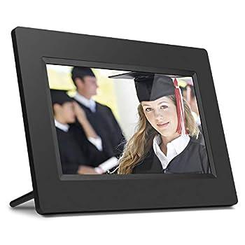 Aluratek 7 Inch LCD Digital Photo Frame with Auto Slideshow Using USB & SD/SDHC  ADPF07SF  – Black
