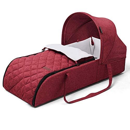 Rocking wieg for pasgeboren baby, Bionic babybed Wieg Travel auto kruipen mat Neonatale Foldable Anti-extrusie Cotton Formaldehydevrij geen geur Veiligheid (Color : Red)