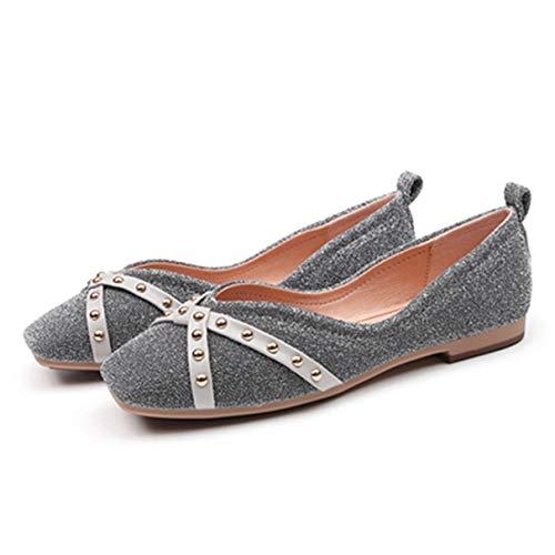 Frauen Flache Schuhe Quadratische Zehe Slip-on Weibliche Weiche Bequeme Schwangere Mokassins