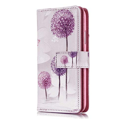 Leather Cover Compatible with Samsung Galaxy S9, fashion3 Wallet Case for Samsung Galaxy S9