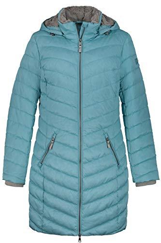 GINA LAURA dames gewatteerde jas, capuchon M Micro Fake Fur Jacket