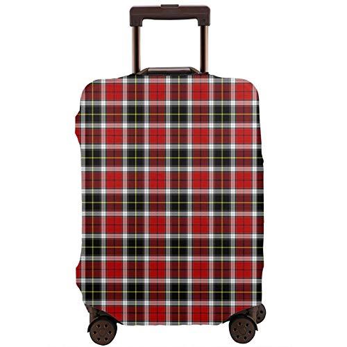 Teery-YY Funda protectora para equipaje de viaje con estampado escocesa, color rojo y negro